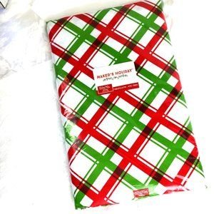 Tablecloth Makers Holiday Red & Green  Oblong NOS